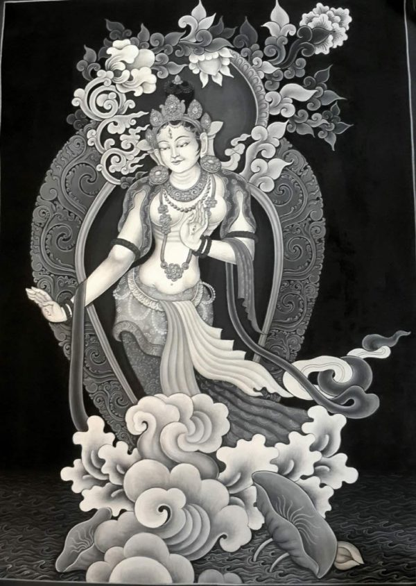 White tara newari thangka